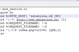 网站301不带WWW的域名跳转到带WWW的域名地址Apache重写规则